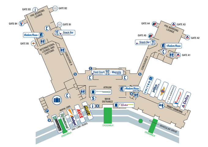 CHS airport map